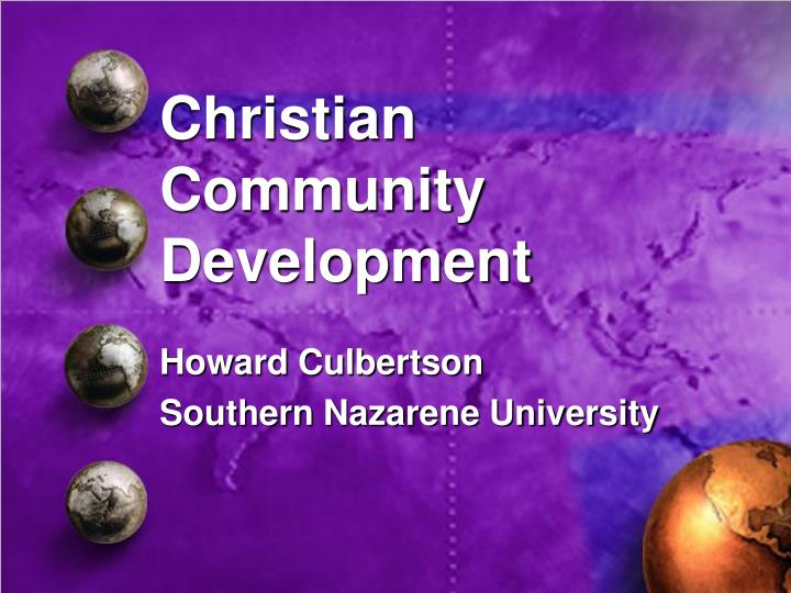 Christian community development
