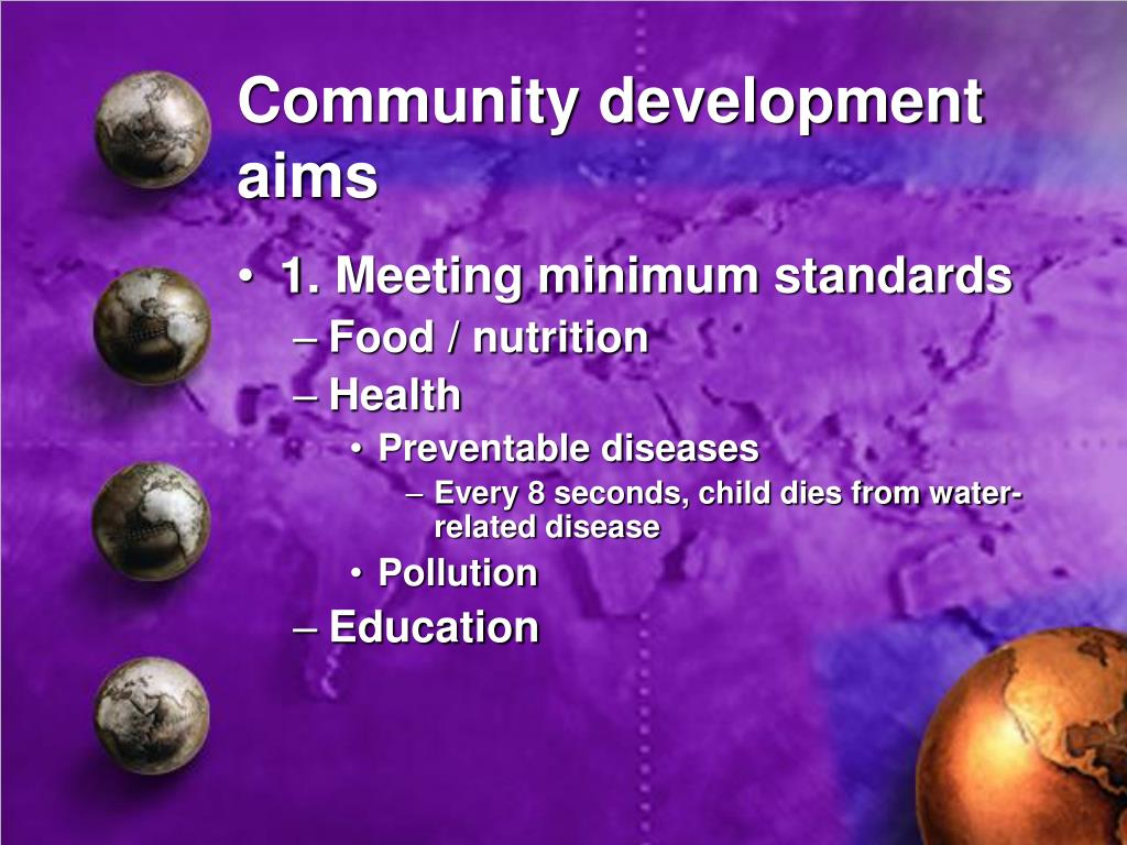 Community development aims