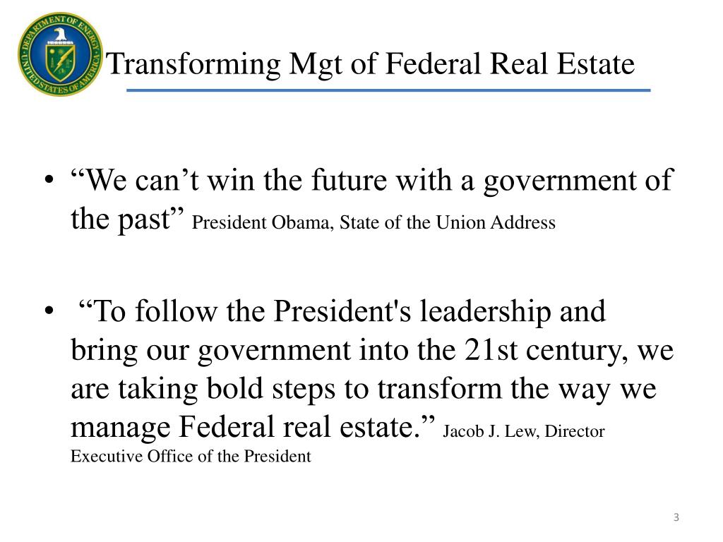 Transforming Mgt of Federal Real Estate