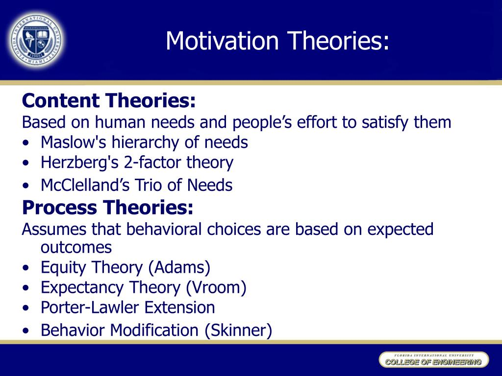 Motivation Theories: