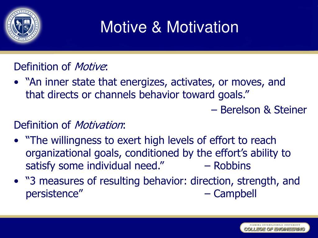 Motive & Motivation