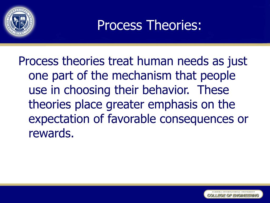 Process Theories: