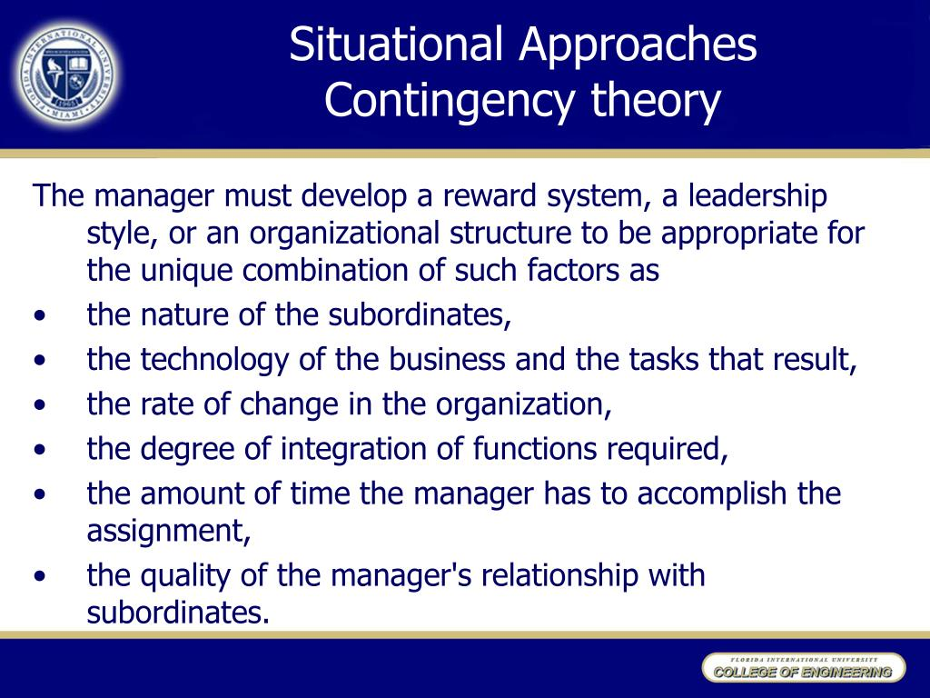 Situational Approaches