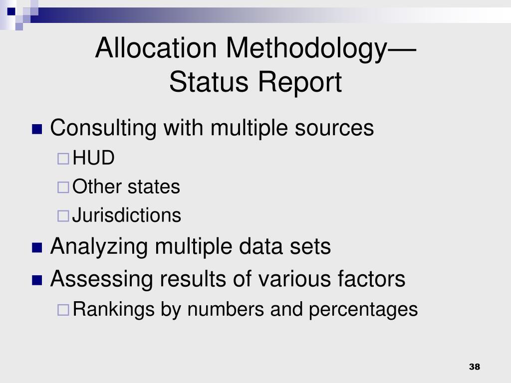 Allocation Methodology—