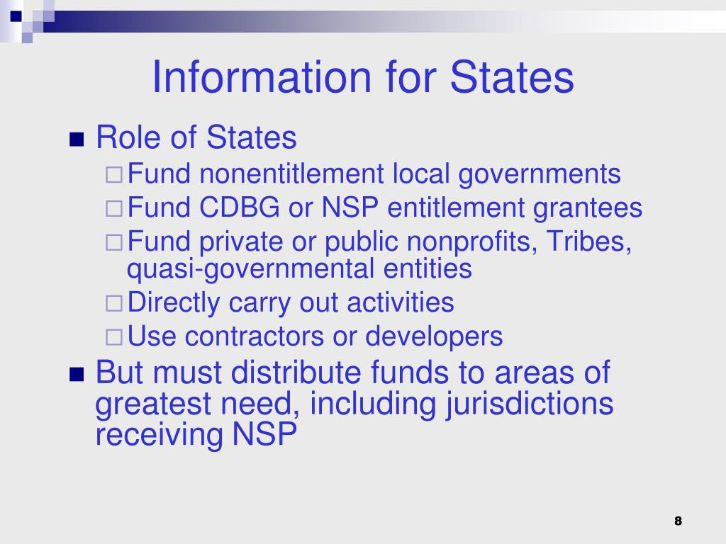 Information for States