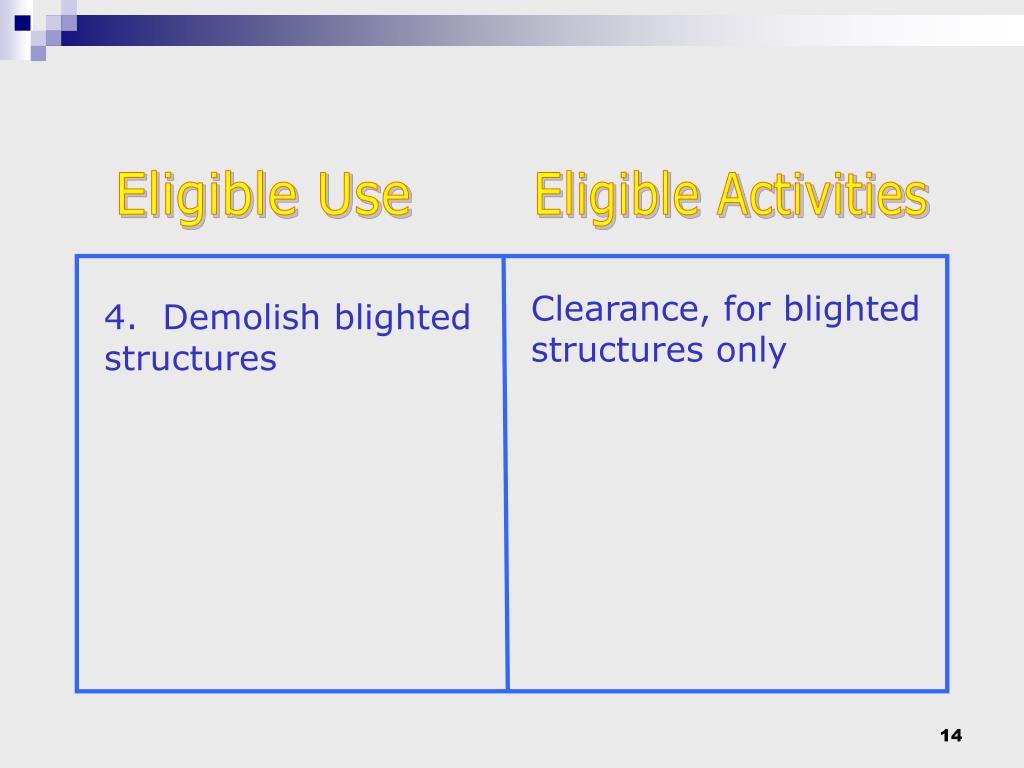 Eligible Use