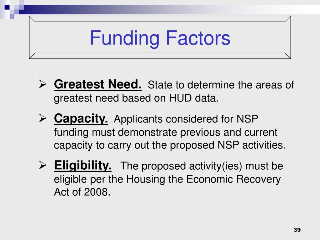 Funding Factors
