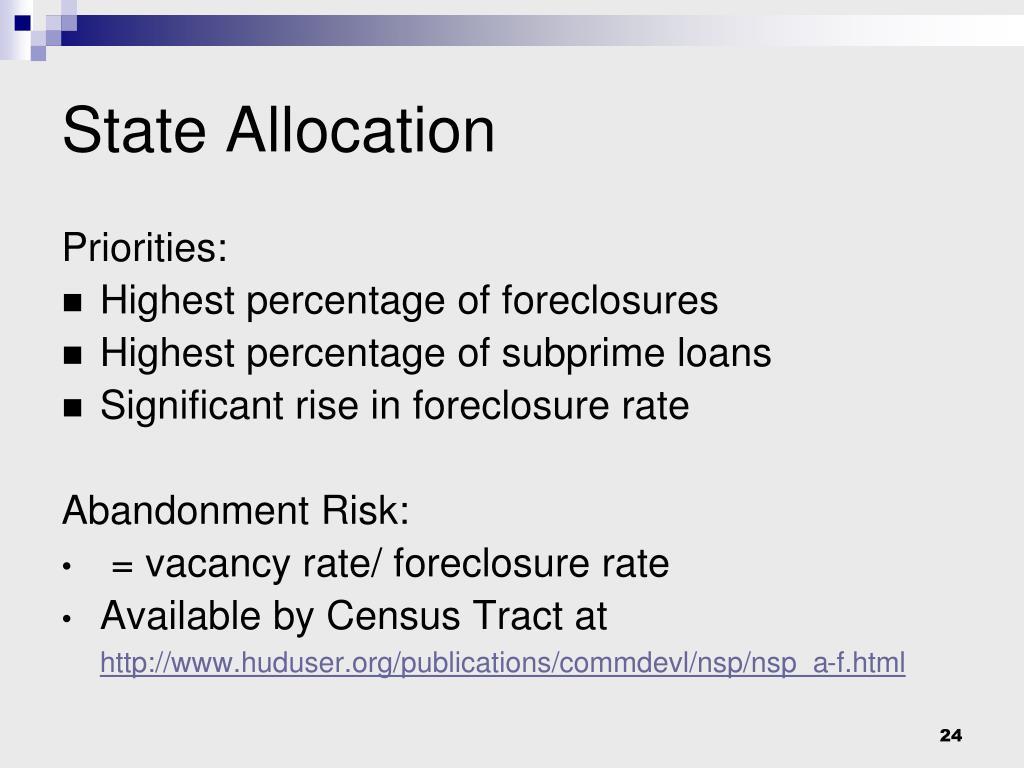 State Allocation