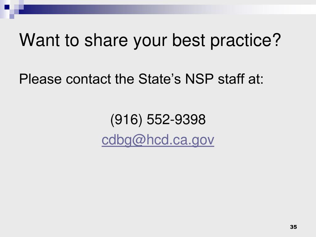 Want to share your best practice?