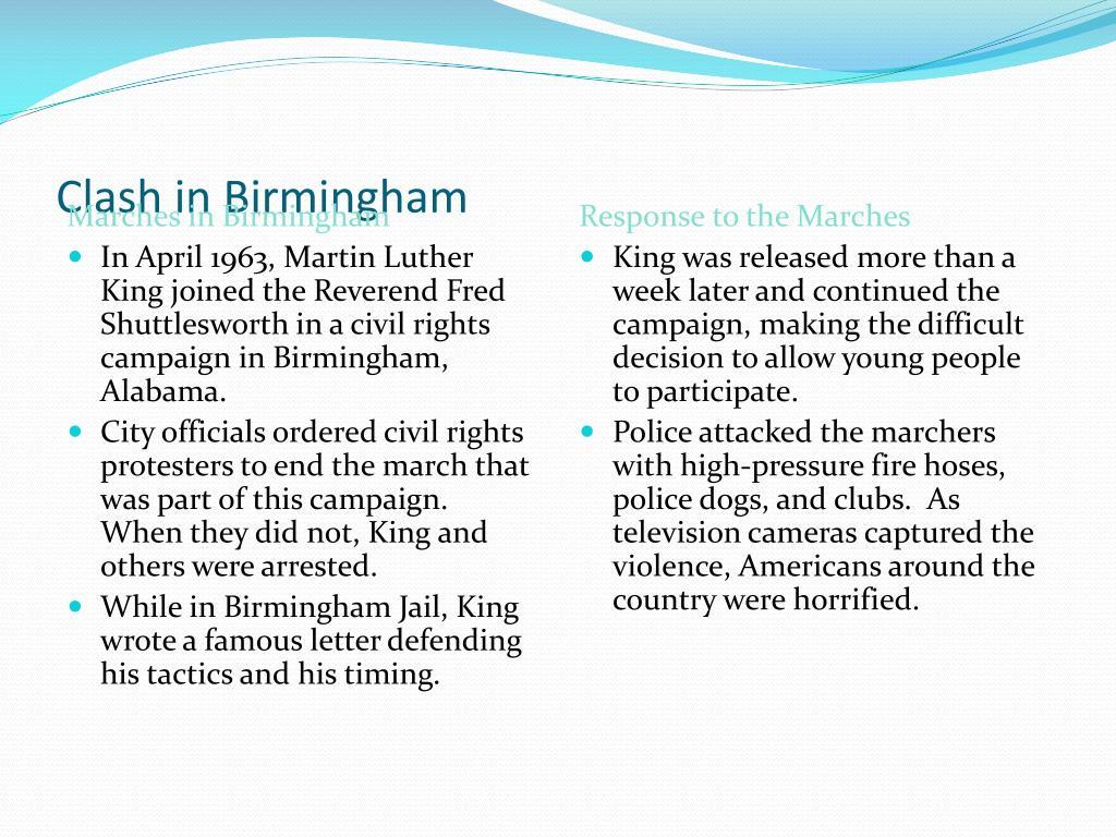 Clash in Birmingham
