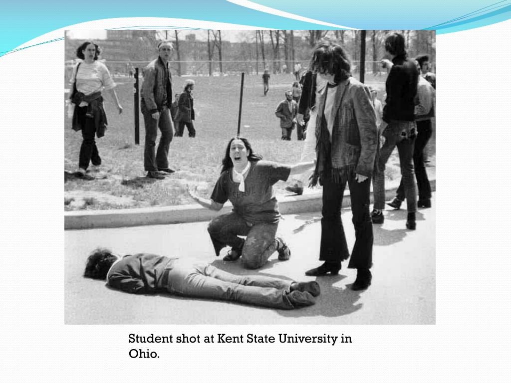 Student shot at Kent State University in Ohio.