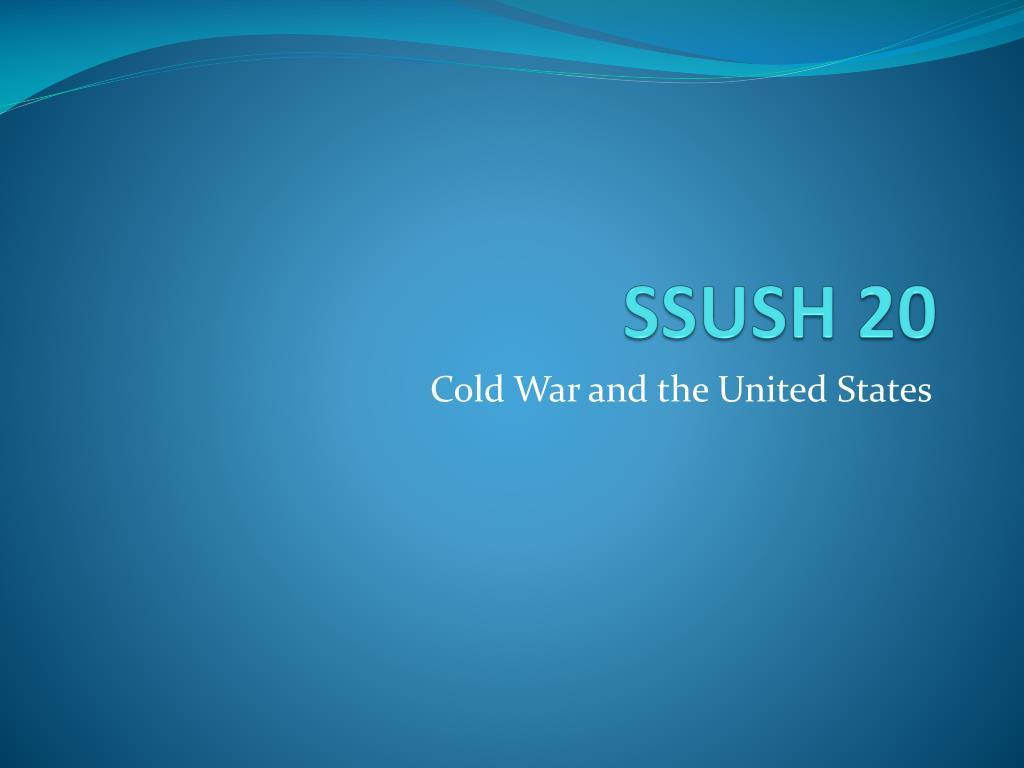 SSUSH 20