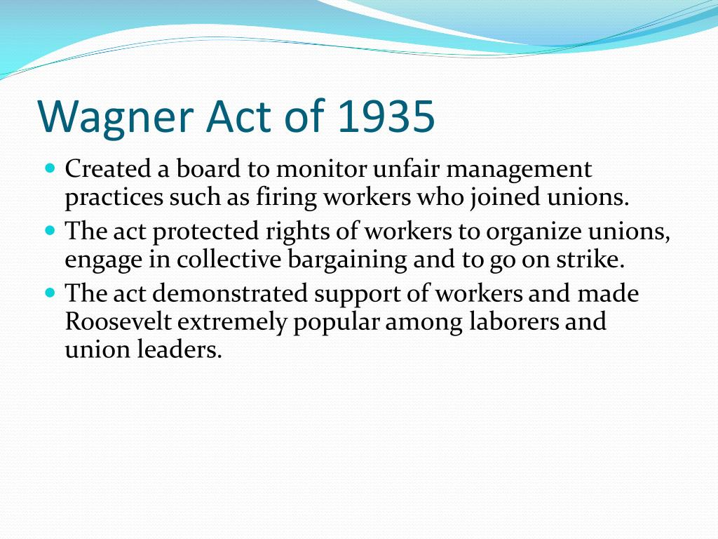 Wagner Act of 1935