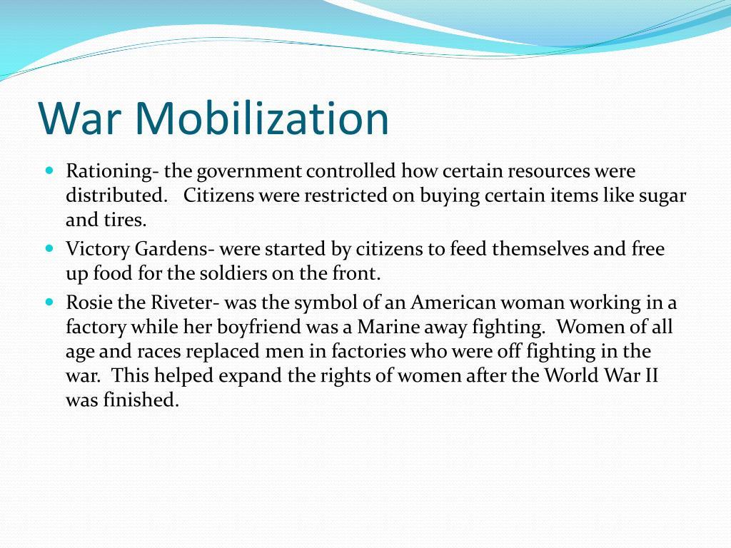 War Mobilization