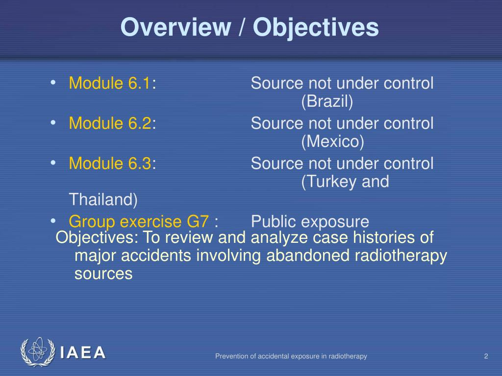 Overview / Objectives