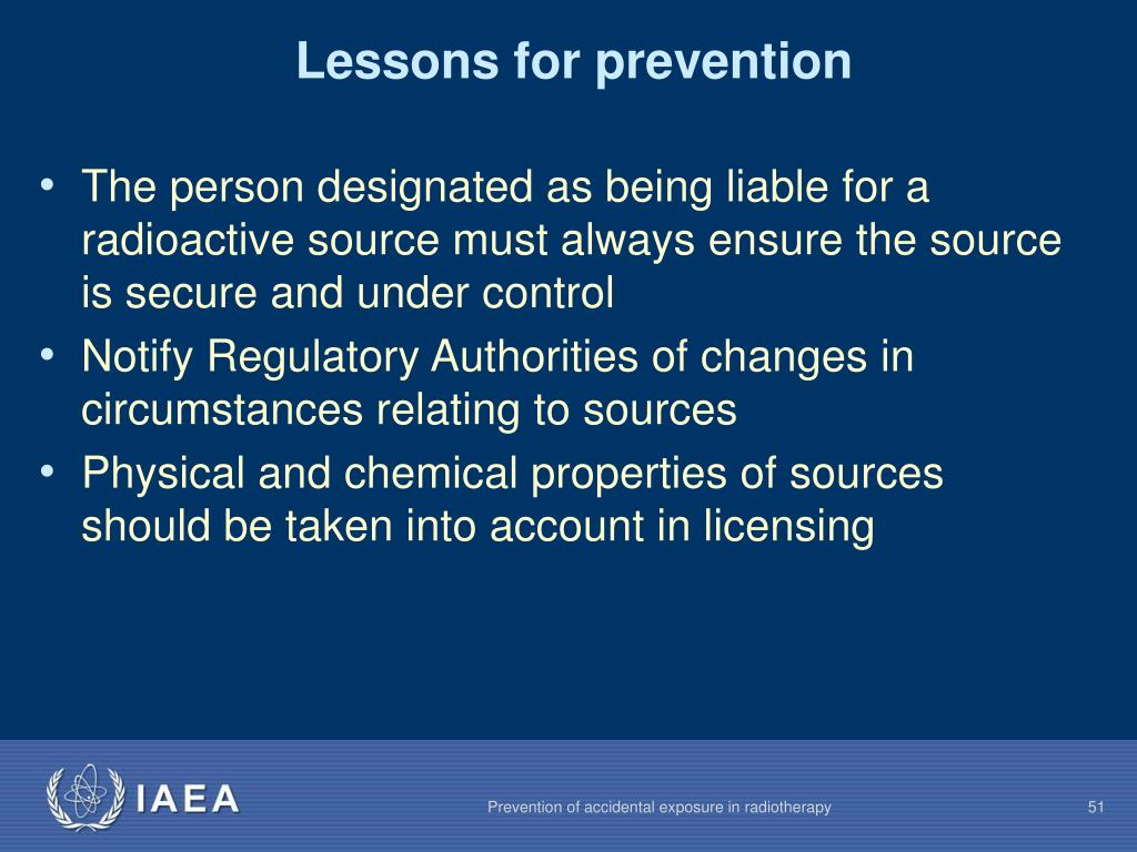 Lessons for prevention