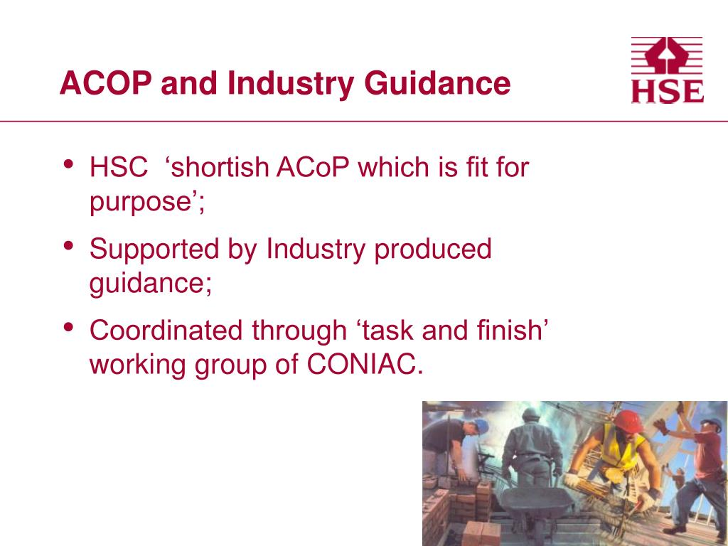 ACOP and Industry Guidance
