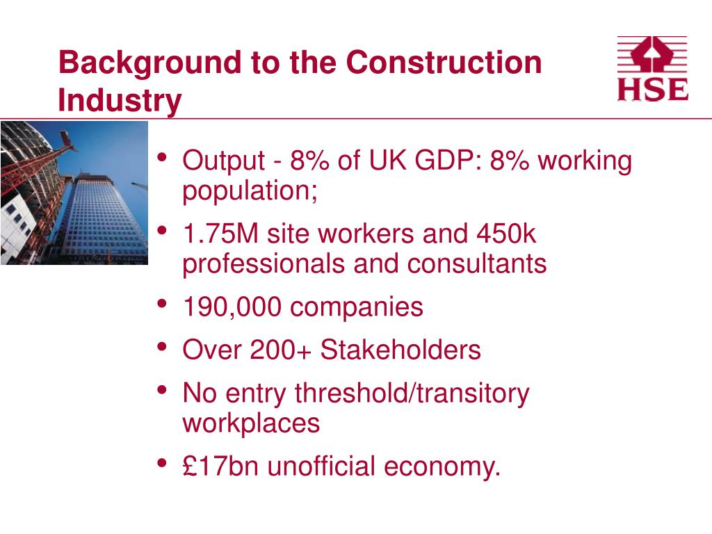 Background to the Construction Industry