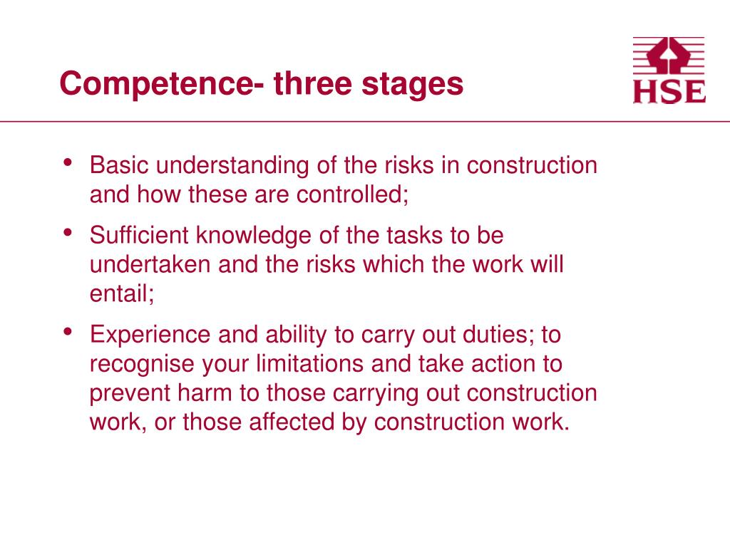 Competence- three stages