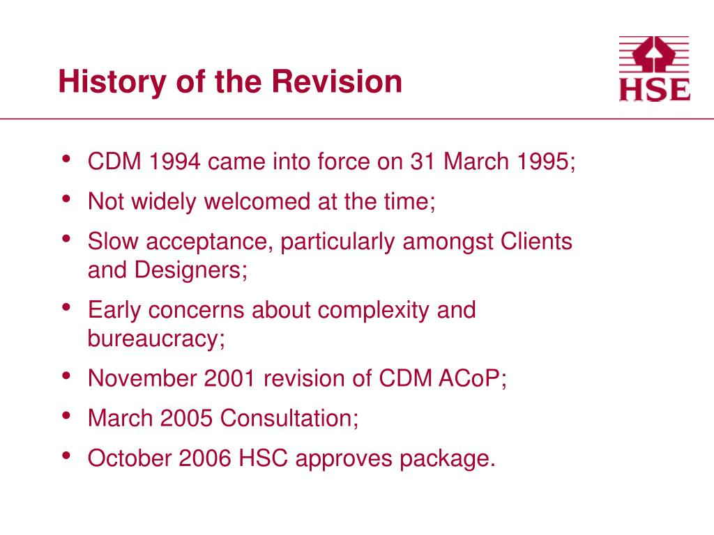 History of the Revision