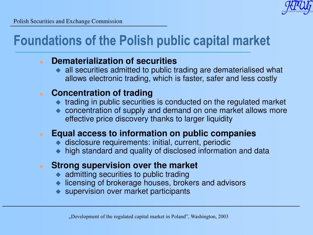 Foundations of the Polish public capital market