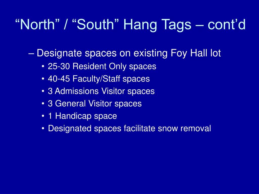 """""""North"""" / """"South"""" Hang Tags – cont'd"""