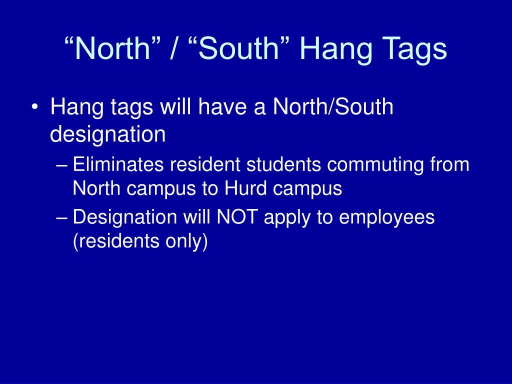 """""""North"""" / """"South"""" Hang Tags"""