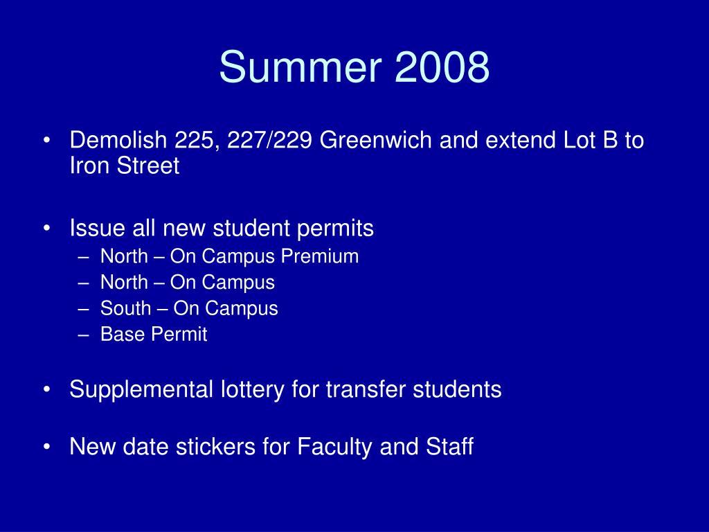 Summer 2008