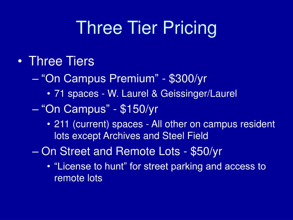 Three Tier Pricing