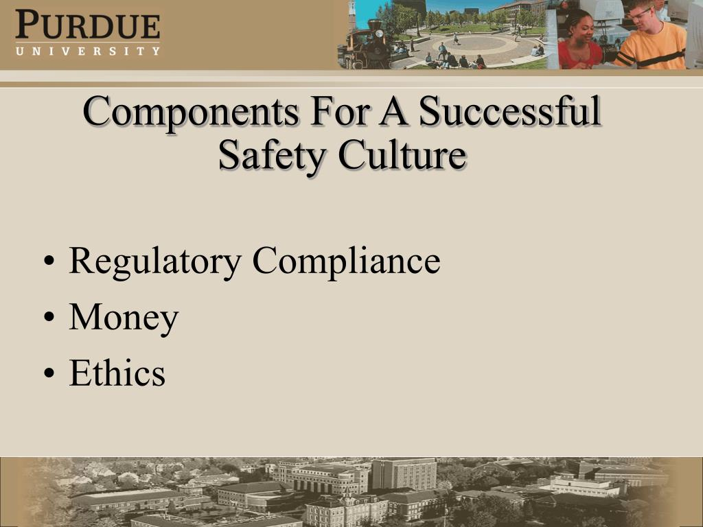 Components For A Successful Safety Culture