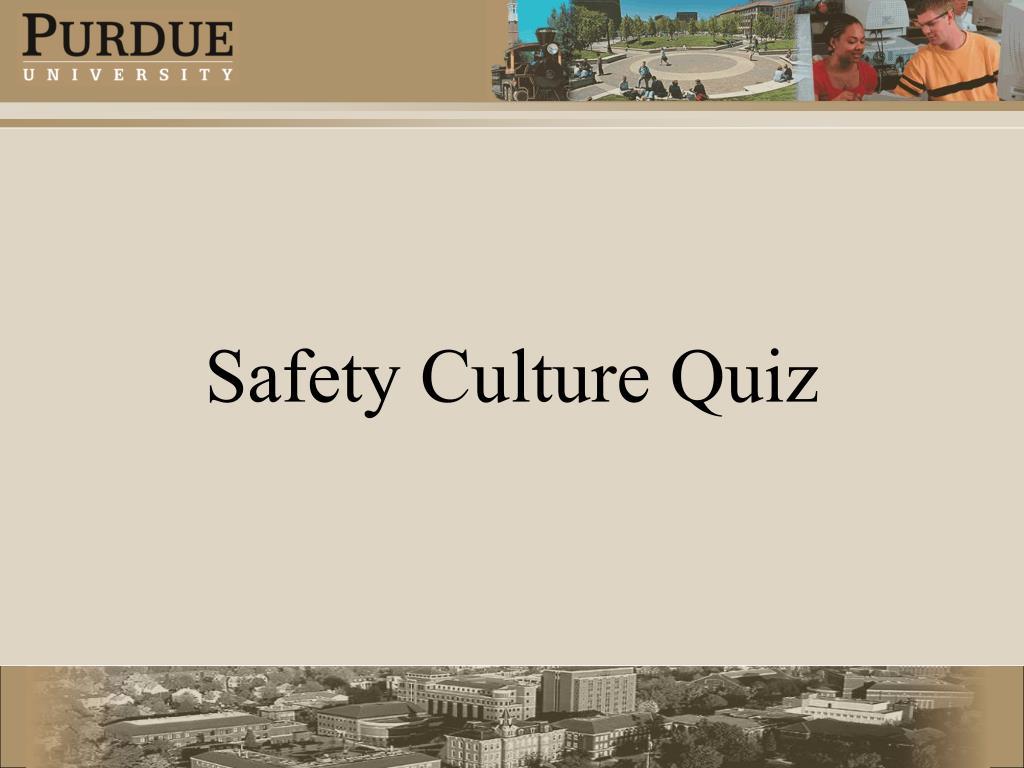 Safety Culture Quiz