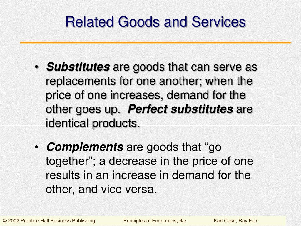 Related Goods and Services