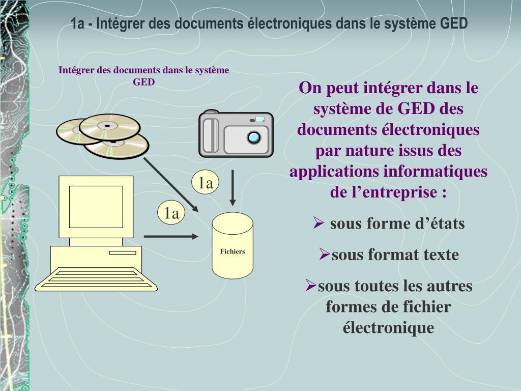 Intégrer des documents dans le système GED