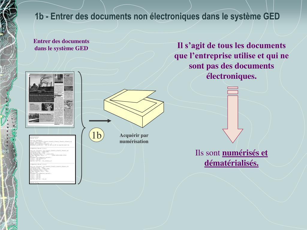 Entrer des documents dans le système GED