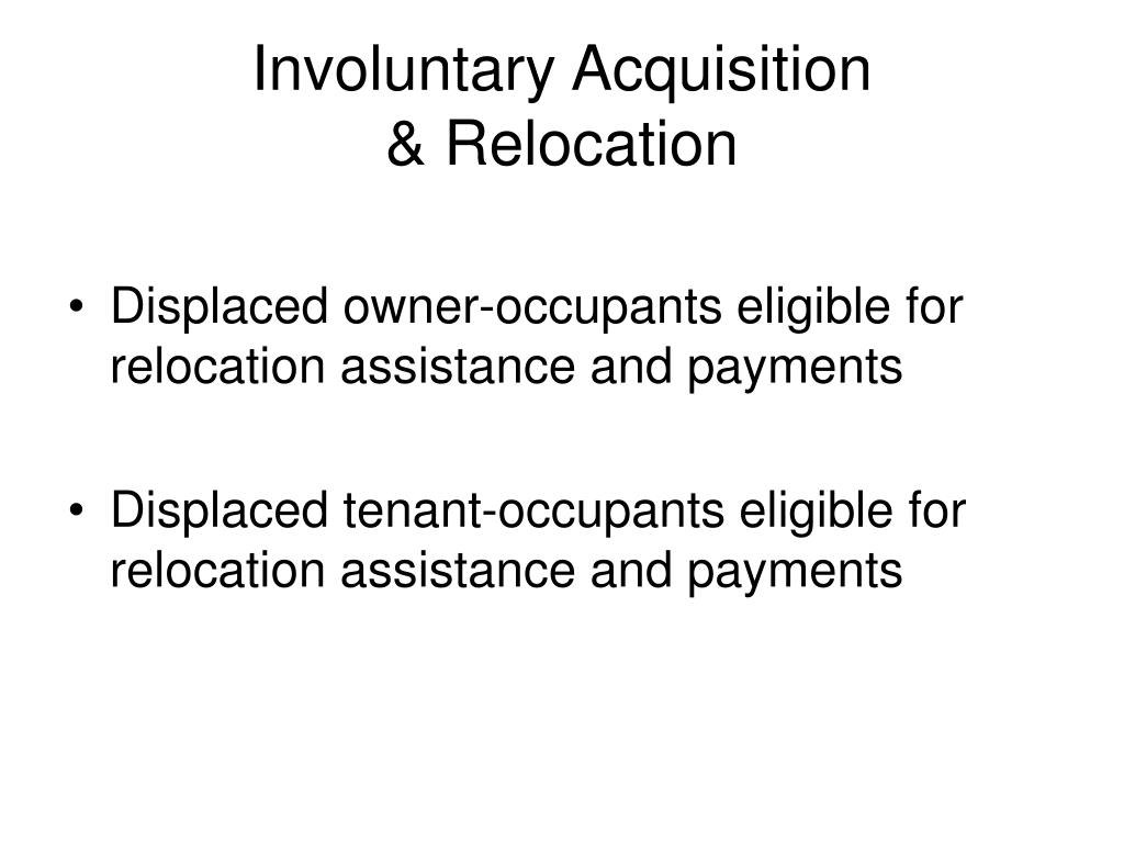 Involuntary Acquisition