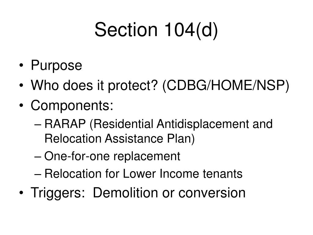Section 104(d)