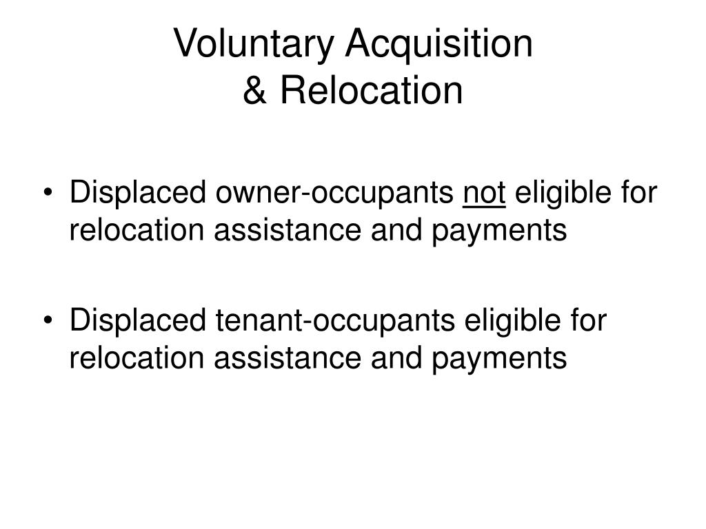 Voluntary Acquisition