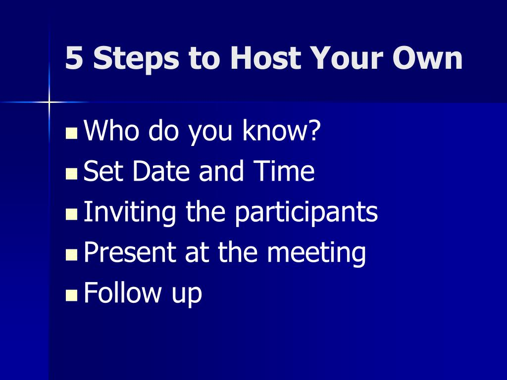 5 Steps to Host Your Own