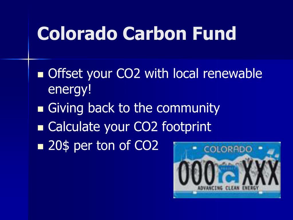 Colorado Carbon Fund