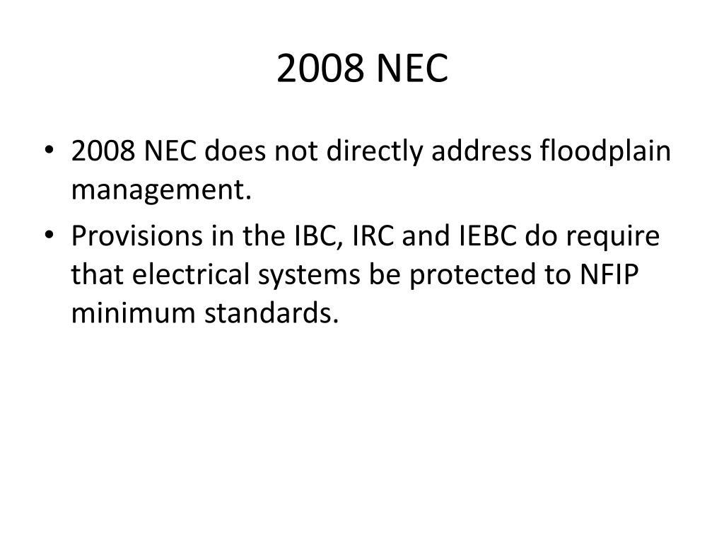 2008 NEC