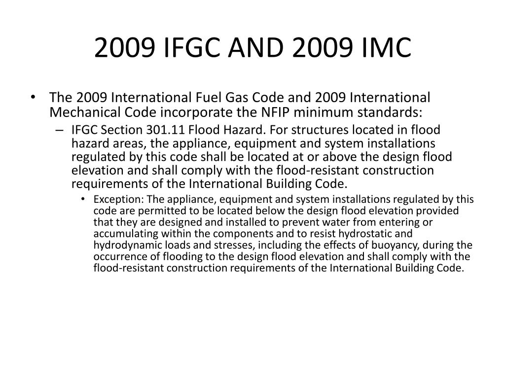 2009 IFGC AND 2009 IMC