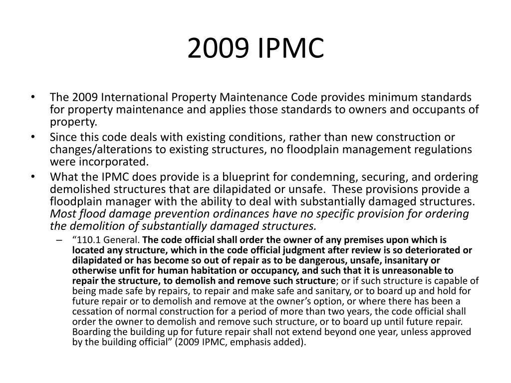 2009 IPMC