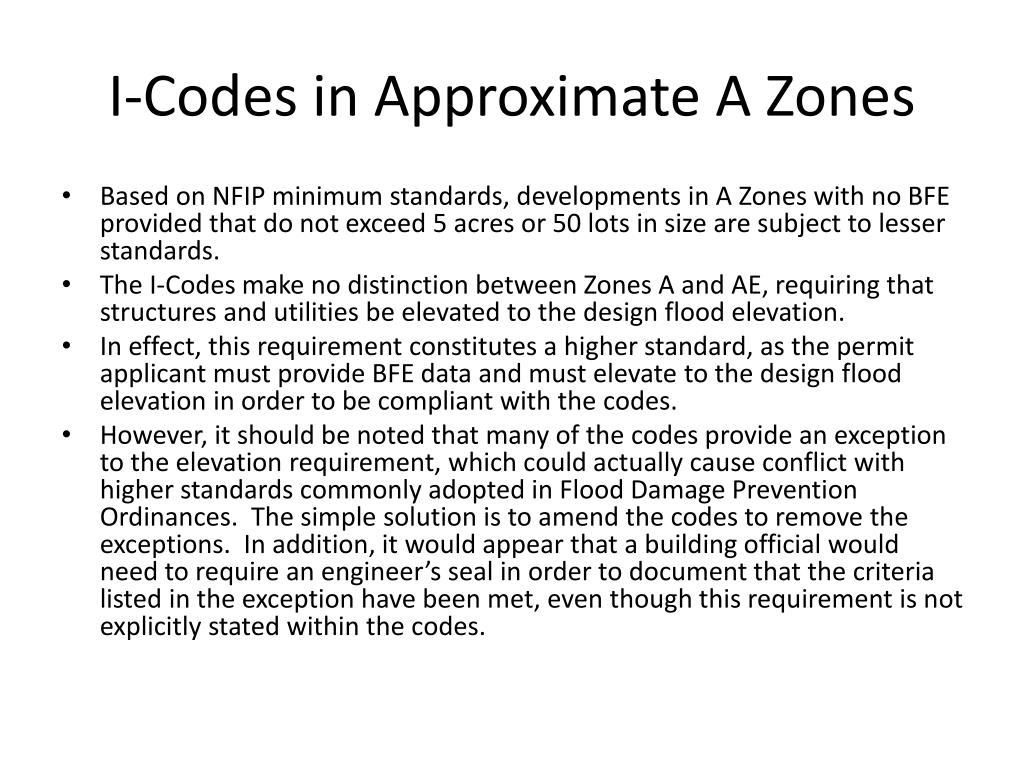 I-Codes in Approximate A Zones