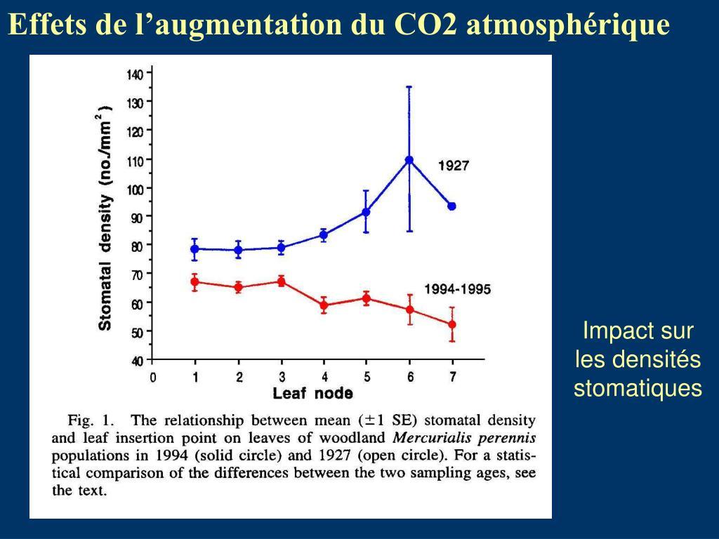 Effets de l'augmentation du CO2 atmosphérique