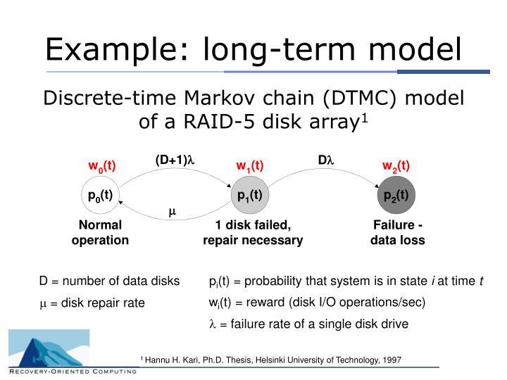 Example: long-term model
