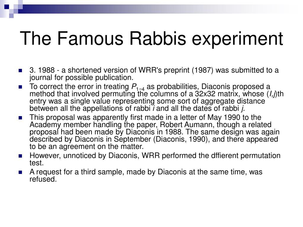 The Famous Rabbis experiment