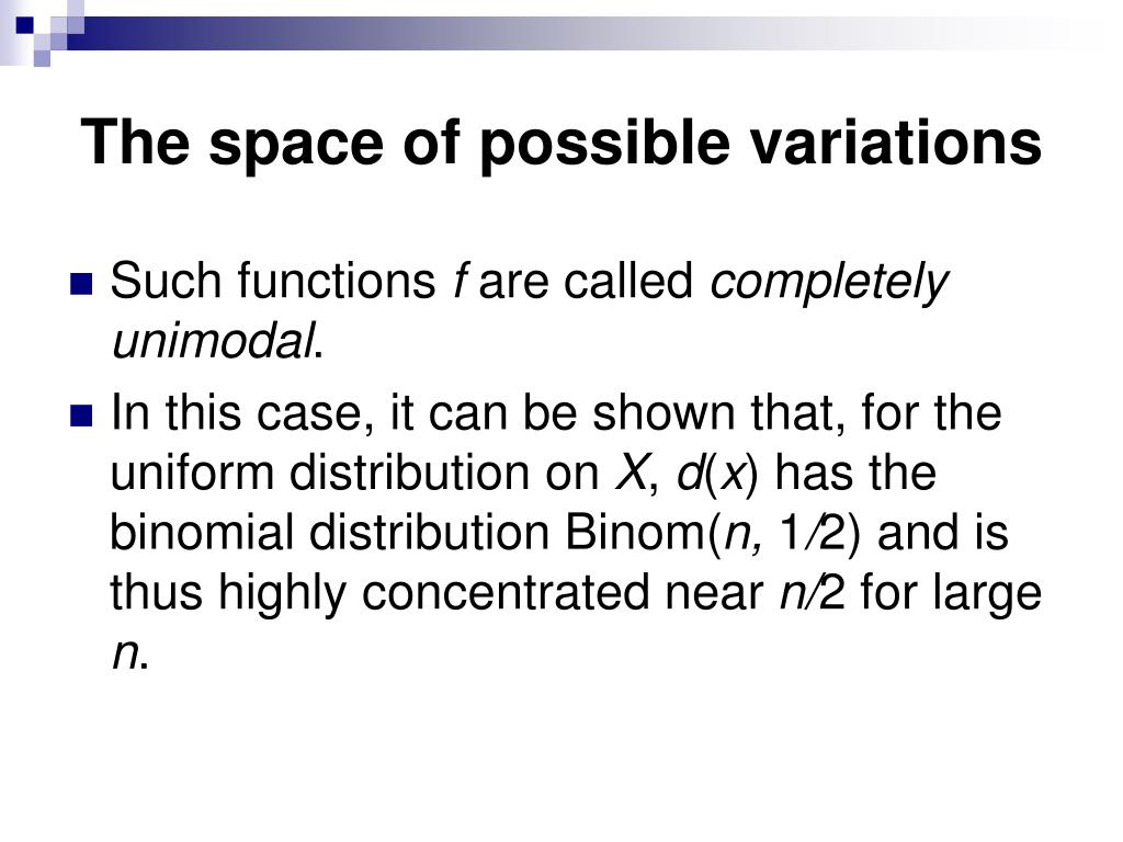 The space of possible variations