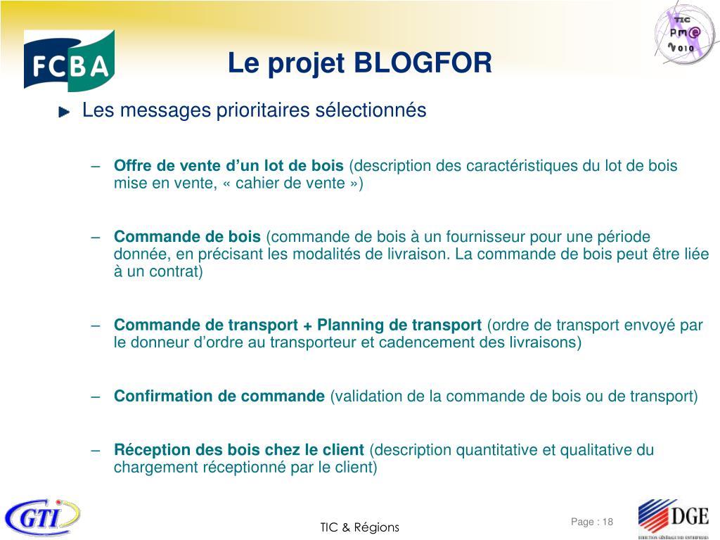 Le projet BLOGFOR