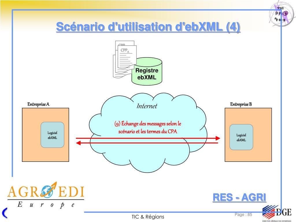 Scénario d'utilisation d'ebXML (4)