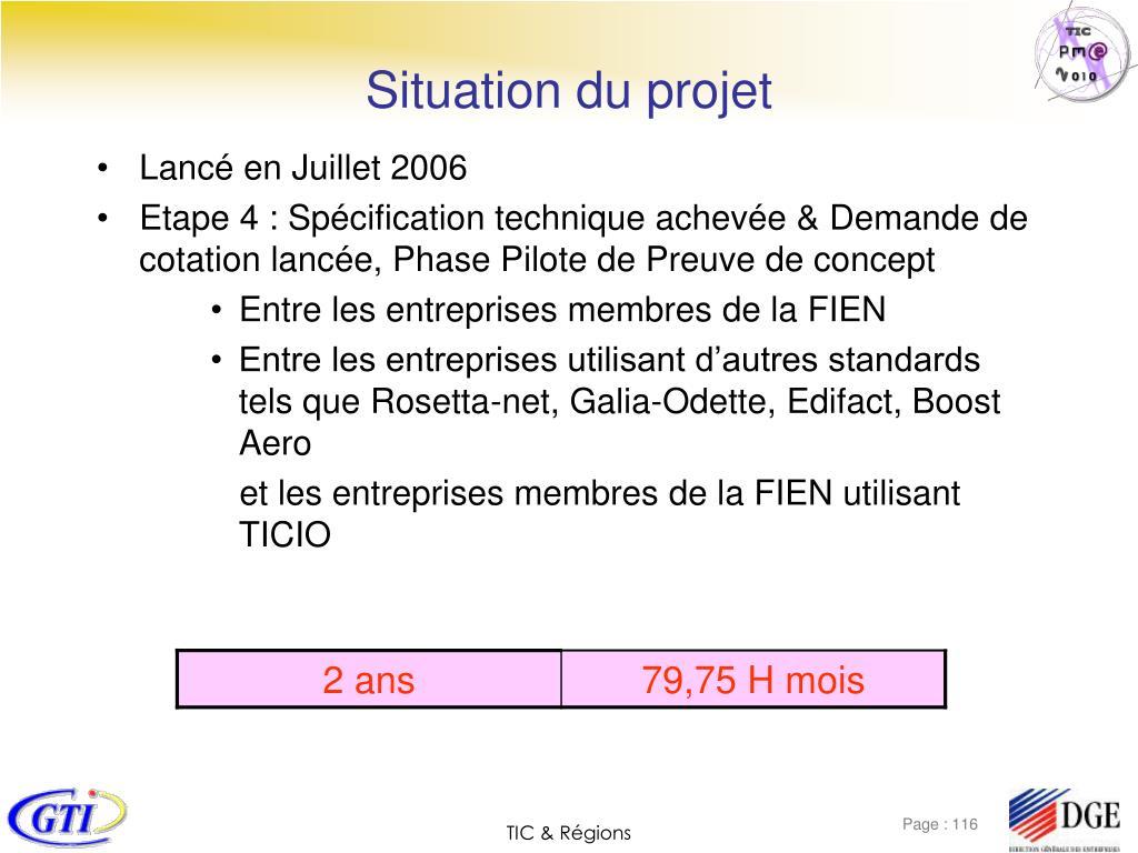 Situation du projet